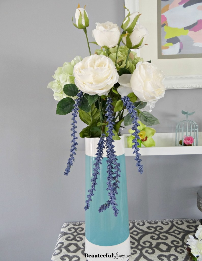 Spring florals in vase - Beauteeful Living