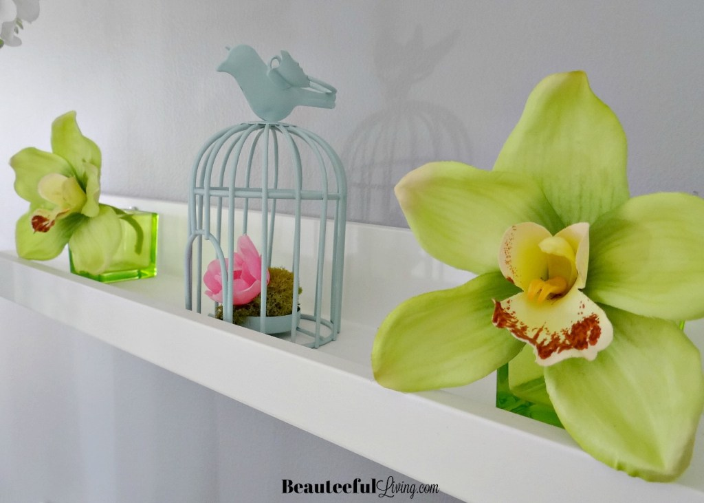 spring mantel decor - Beauteeful Living