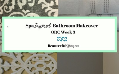 Spa Inspired Bathroom Makeover – ORC Week 3