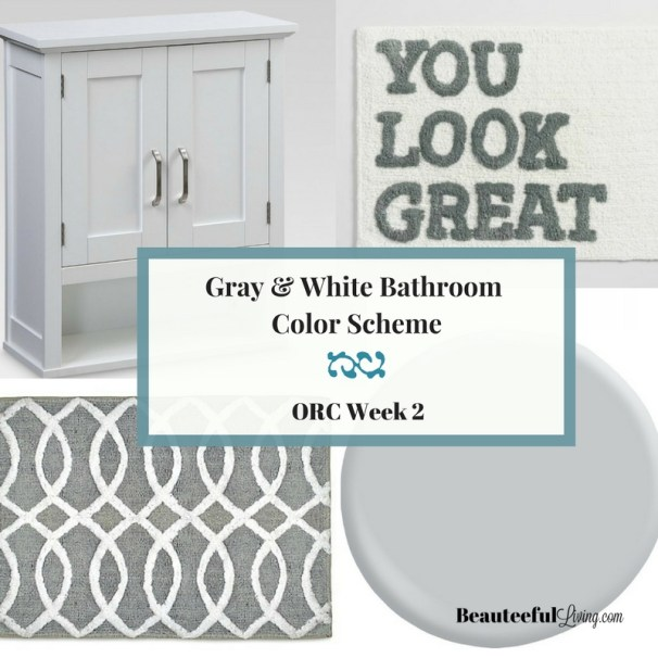 Gray and White Bath Color Scheme