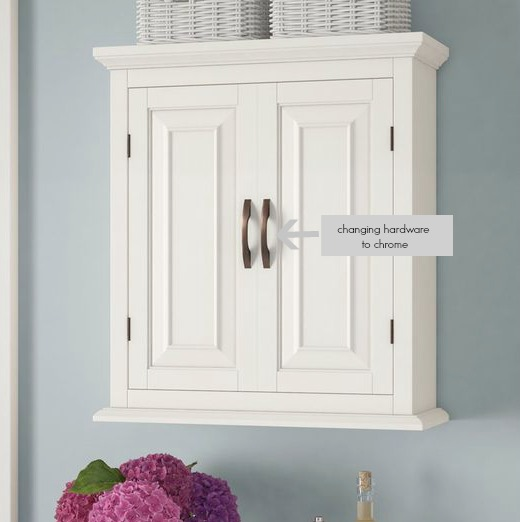 Prater White Wall Cabinet