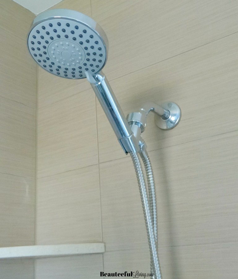 Chrome hand held shower head