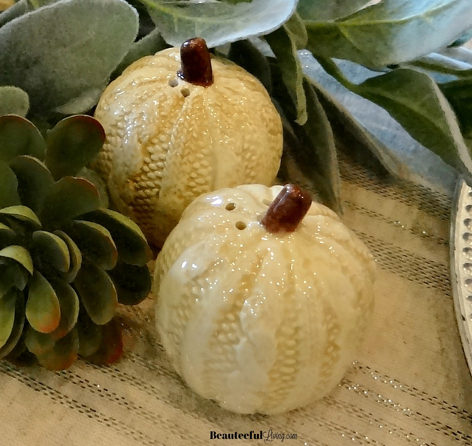 Pumpkin salt and pepper shakers - Beauteeful Living