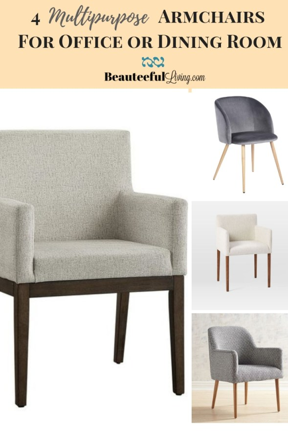 Multipurpose Armchairs for Office or Dining Room - Beauteeful Living