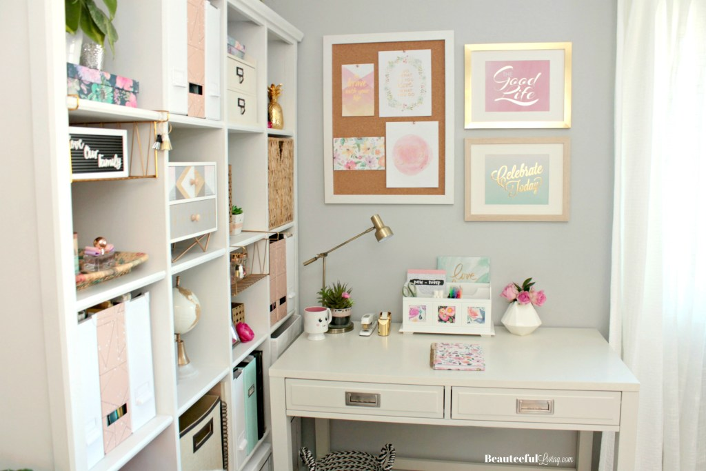 Glam Corner Office Desk - Beauteeful Living