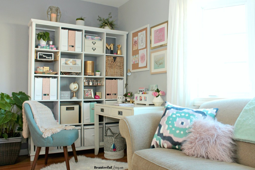 Glam Corner Office Makeover - Beauteeful Living