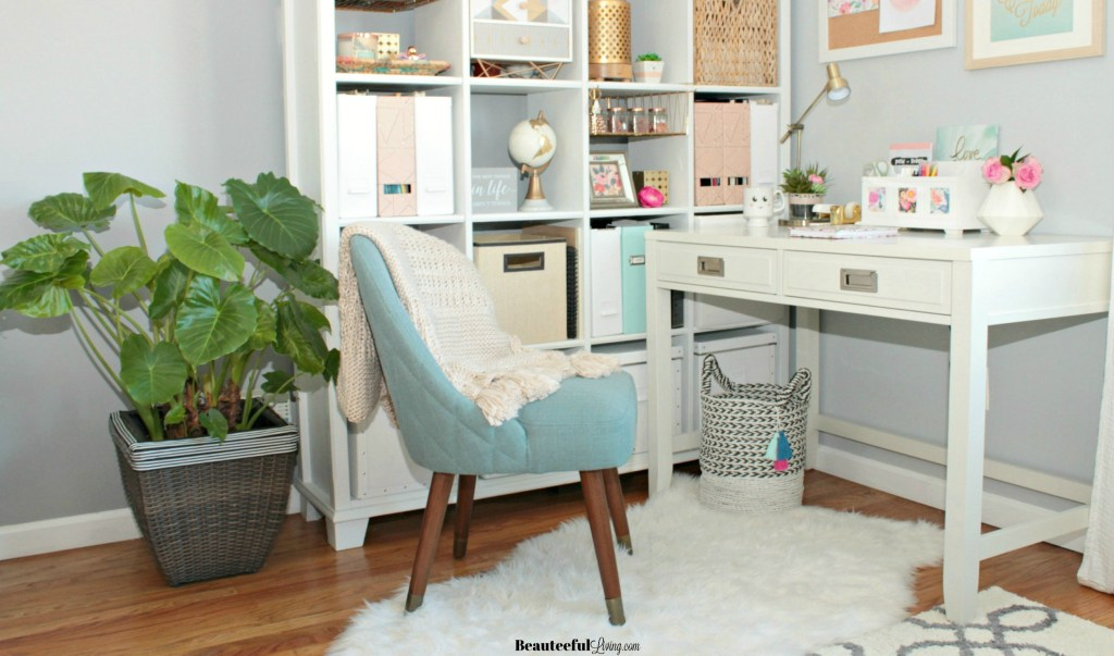 Glam Home Office Seating View - Beauteeful Living