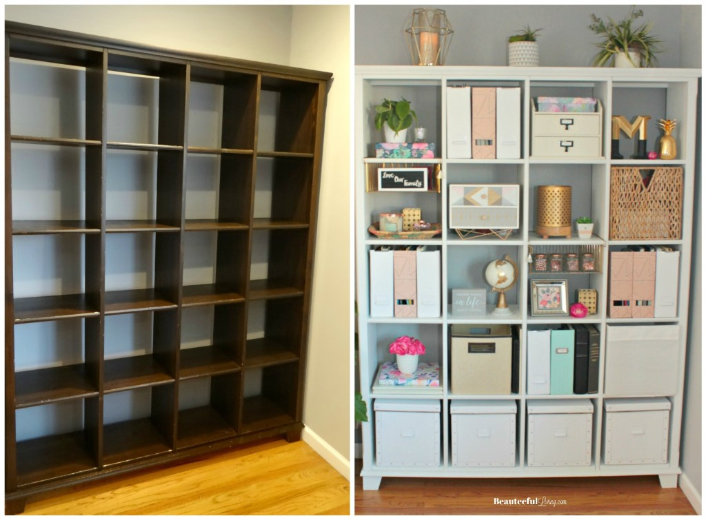 Repainting Bookshelf White - Beauteeful Living