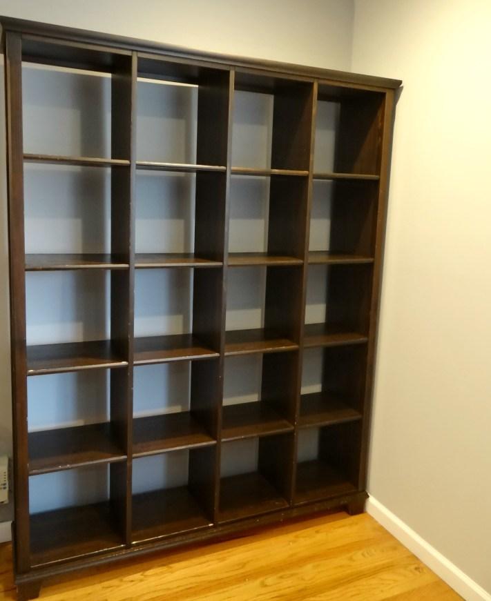 Espresso Bookcase Before