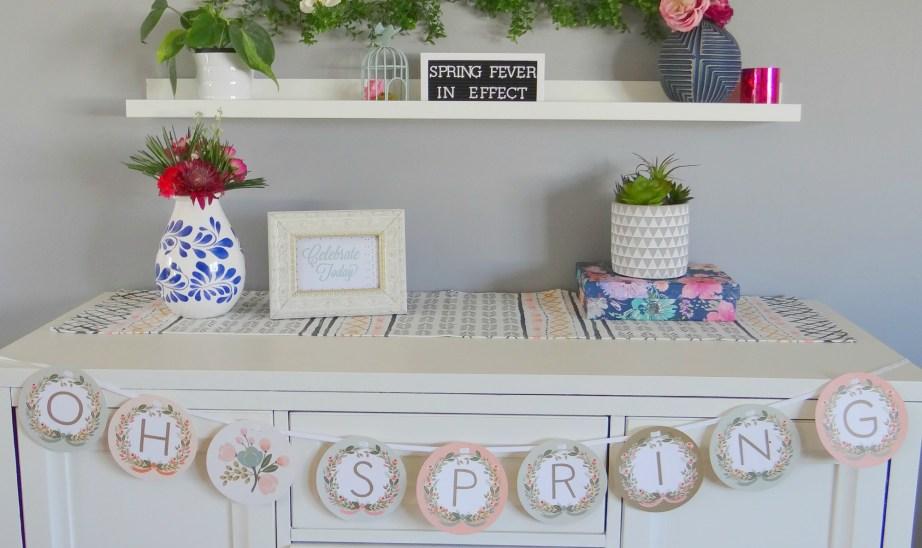 Spring Mantel Banner - Beauteeful Living