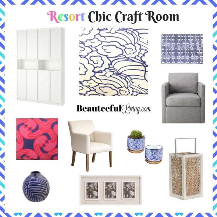 Resort Chic Craft Room - Beauteeful Living