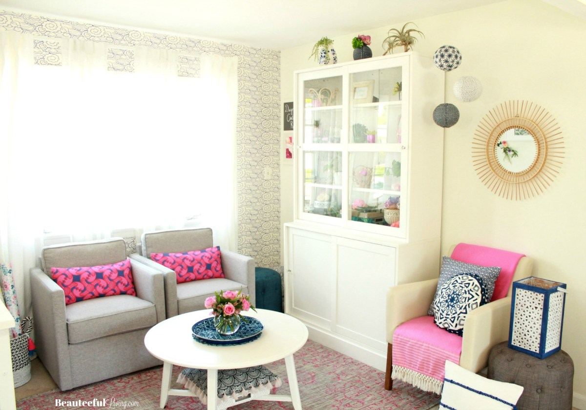 Resort Chic Craft Room Makeover - The Reveal