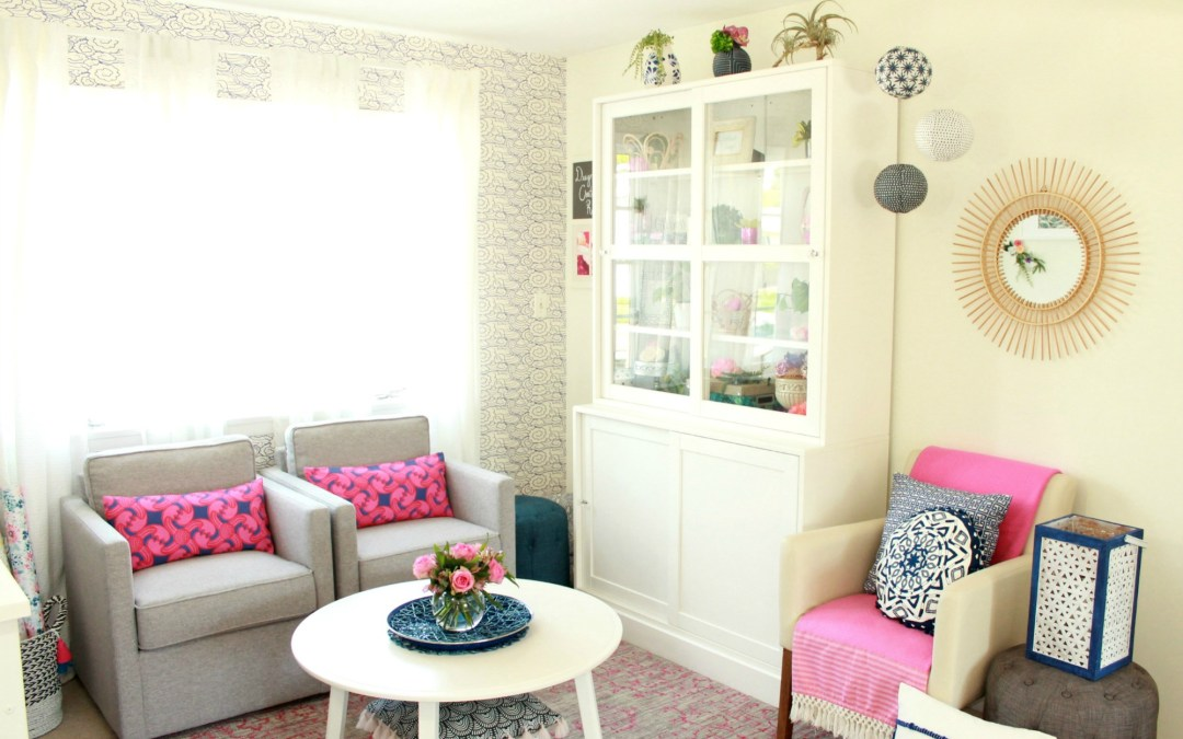 Resort Chic Craft Room Makeover – The Reveal