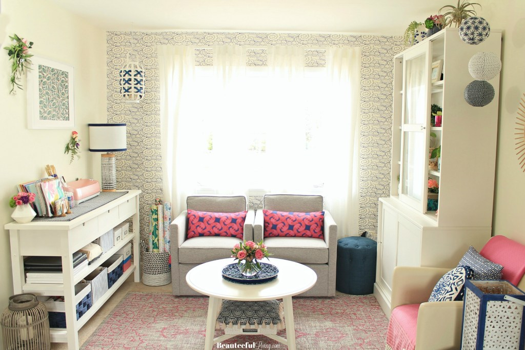 Craft Room Makeover Reveal - Beauteeful Living