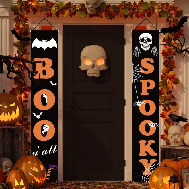 Boo Halloween Hanging Banner