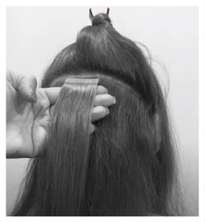 tuto extensions cheveux : etape 3