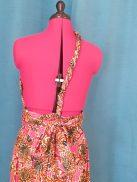 Robe Infinity wax 100% coton motif fleurs sur fond rose-23