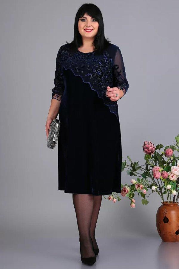 Нарядное платье из бархата А3649 Algranda-26760720 (ткань ...
