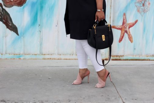 pink heels, pink mules, plus size blogger, beauticurve