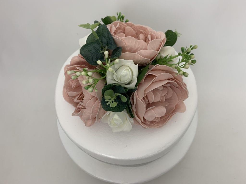 Artificial Wedding Cake Topper Peonies