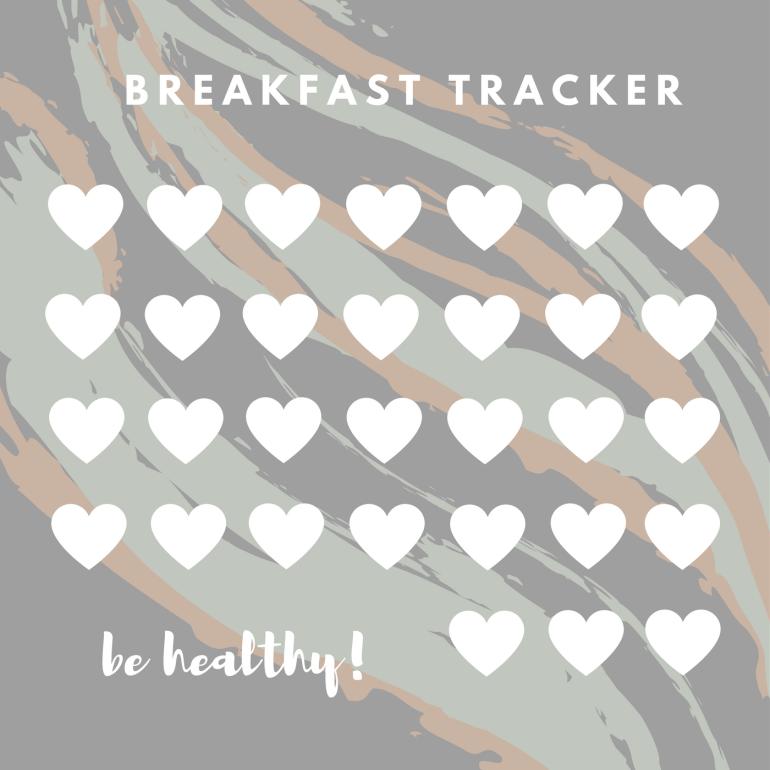 Bullet Journal Tracker; Breakfast Tracker