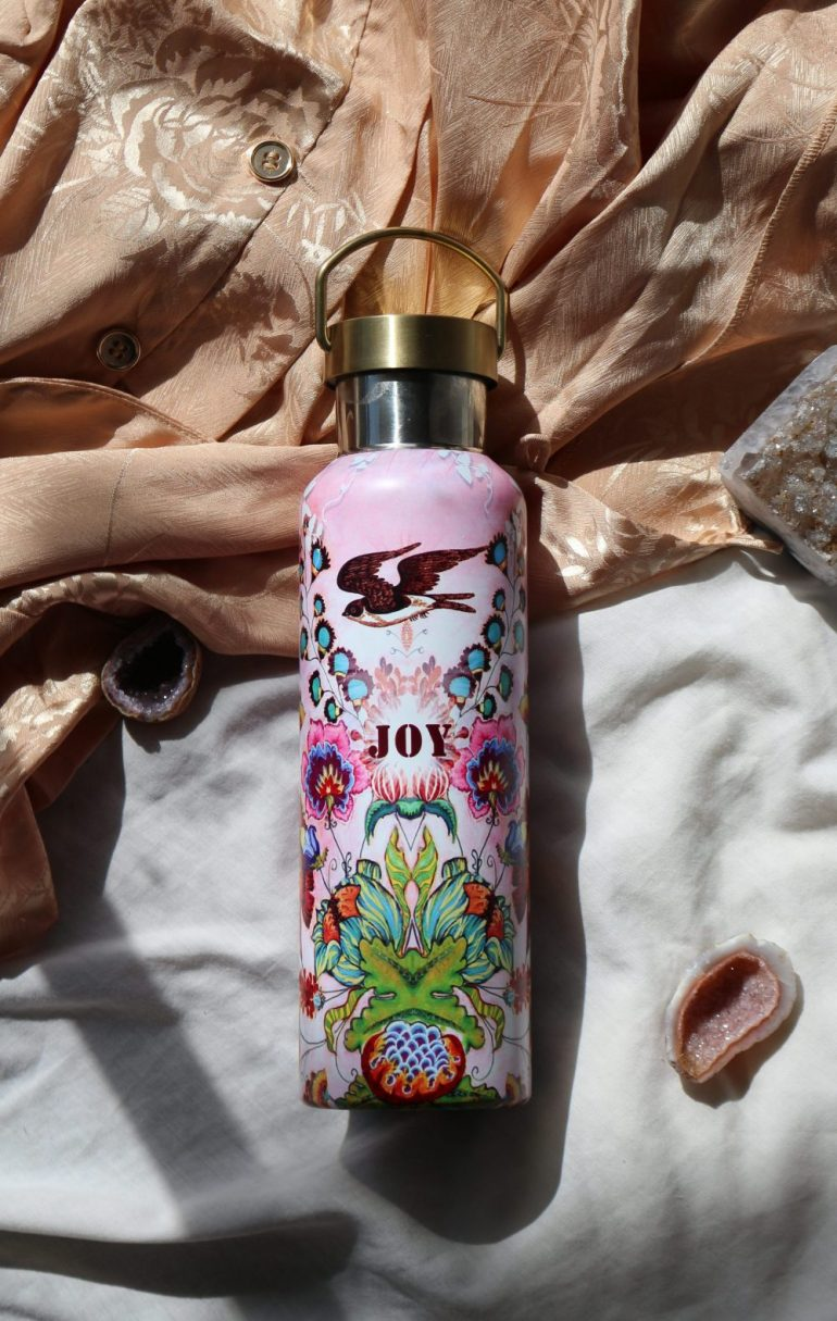 Papaya Art Water Bottle