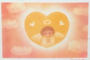 天使のパステルアート