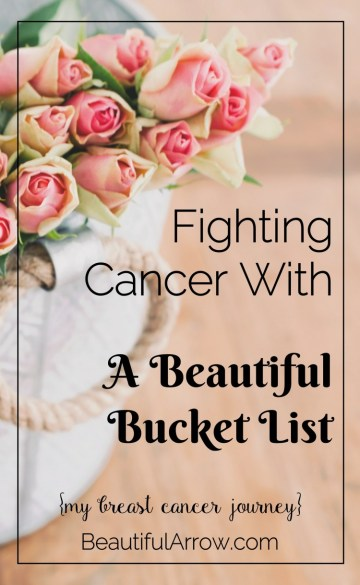 Starting a Bucket List was one of the things that helped me to stay encouraged during my breast cancer treatment. A short blog post about how I started one during my treatment.