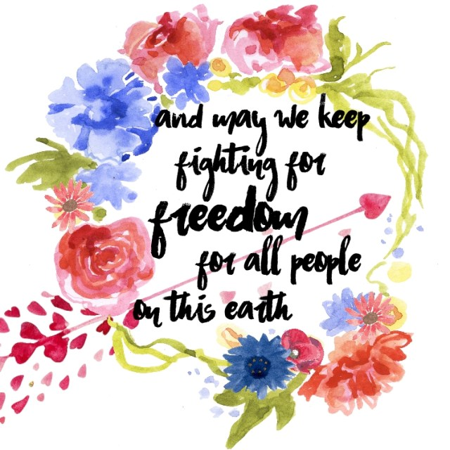 4 of 4 graphics for 4th of July and Practicing Gratitude