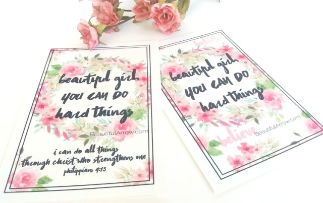 Encourage a warrior with these free floral motivational cards.