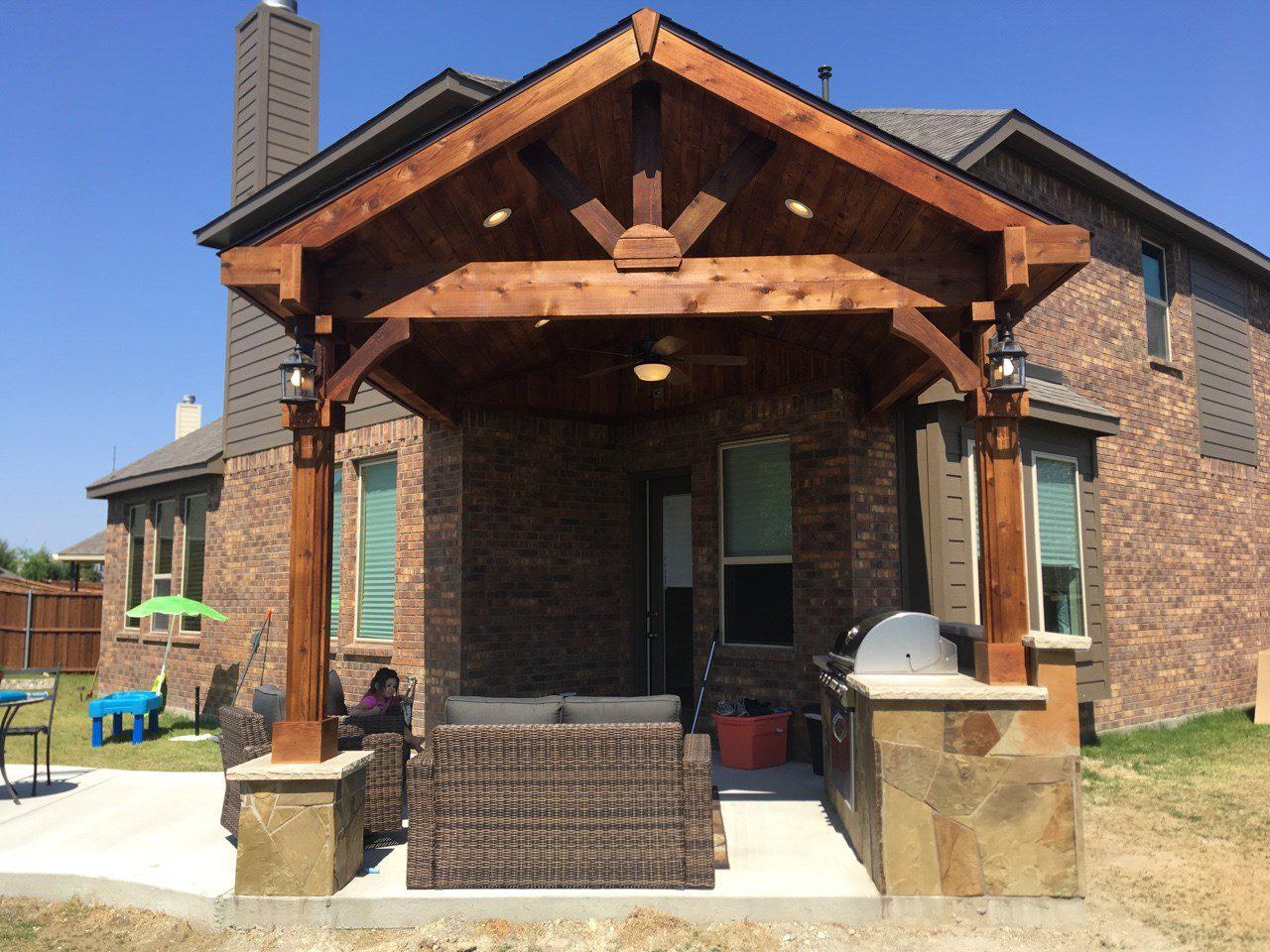 Patio Covers   Beautiful Backyard Living   Frisco, TX ... on Backyard Patio Covers  id=19693