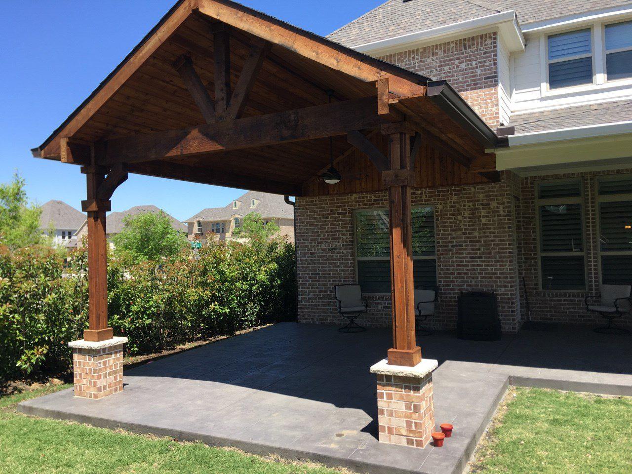 Patio Covers   Beautiful Backyard Living   Frisco, TX ... on Backyard Patio Covers  id=18081