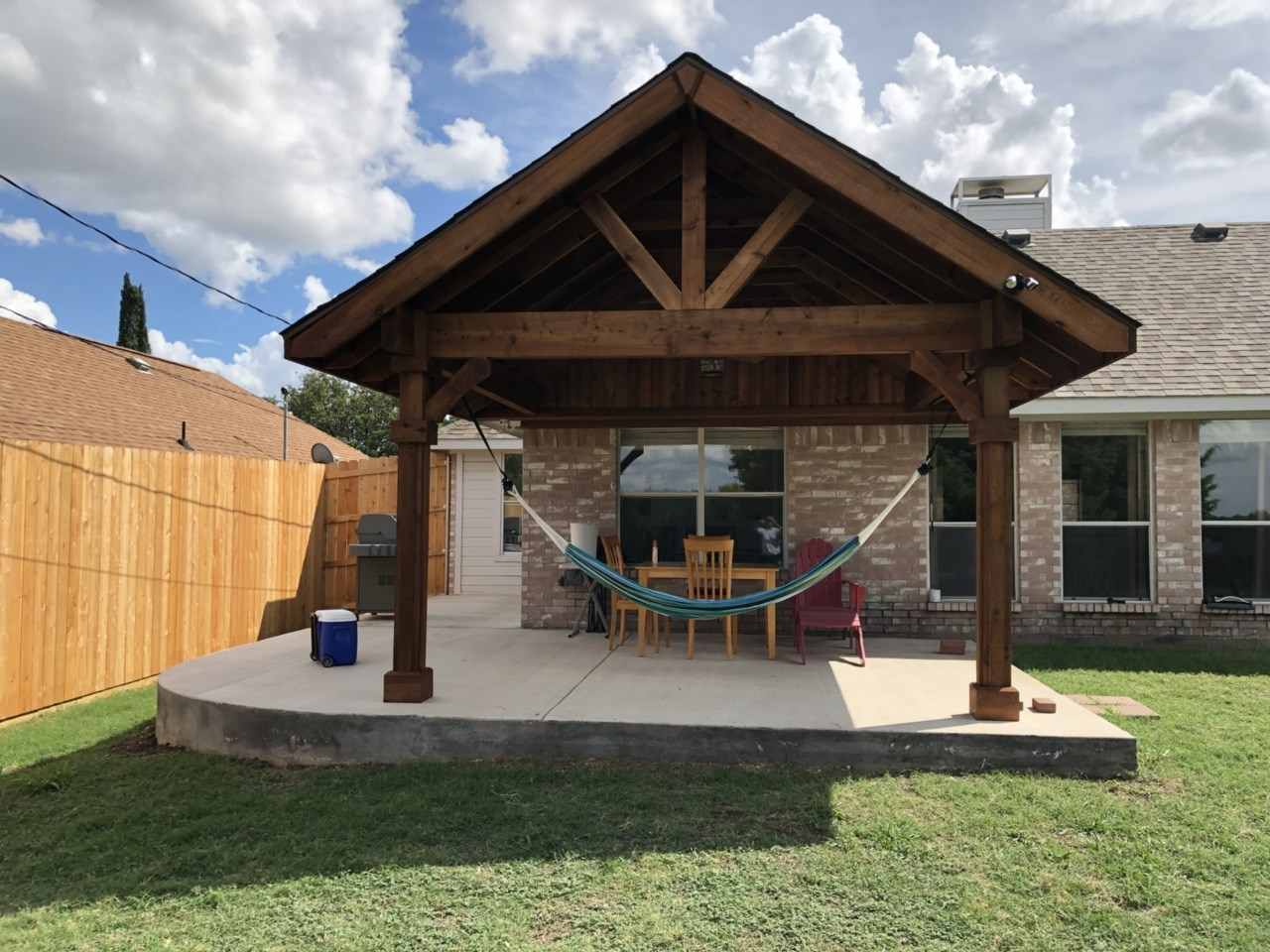 Outdoor Living: Rustic Patio Cover in Frisco Texas on Patio Cover Ideas Wood id=34899
