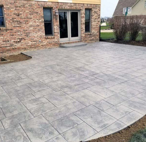 concrete deck companies backyard patio