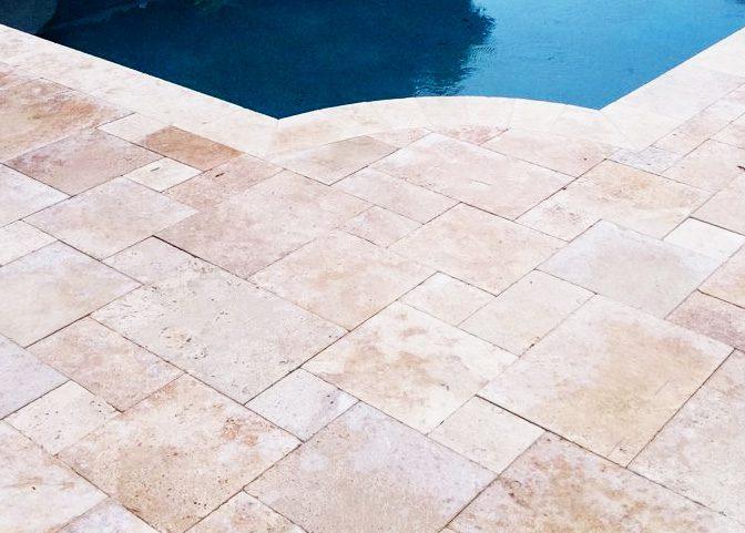 travertine tile outdoor