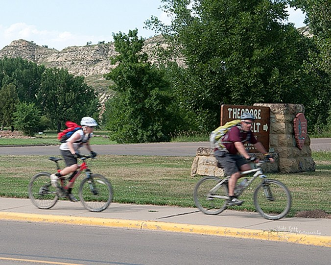 Pay the entrance fee and take a bicycle ride in to the South Unit of the Theodore Roosevelt National Park. Take supplies, though. You will need to carry plenty of water.