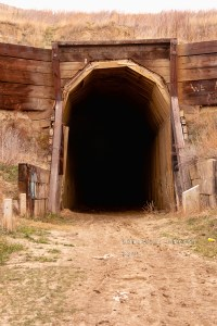 Built by hand, trains passed trough this tunnel until about 1986.
