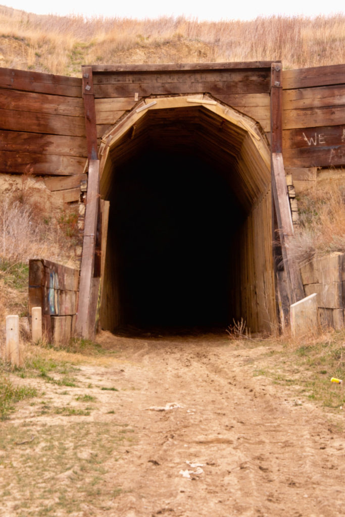 Th entrance to the Cartwright Tunnel.