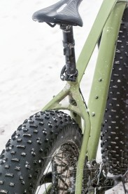 The Poco Rio Frio Badlands Race Not just the tires, but the entire frame, sprockets, gears and axles of a fat bike are set up to help riders through the snow.
