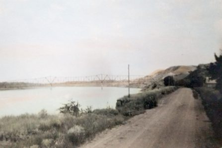 A 1950 image of Highway 8 before it was under water.