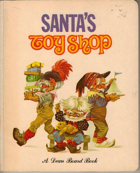 Janet Anne Grahame Johnstone Dean Board Book Santas Toy Shop