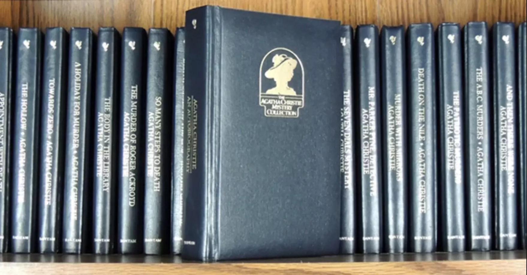 agatha christie bantam books shelf
