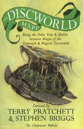 terry pratchett discworld map cover