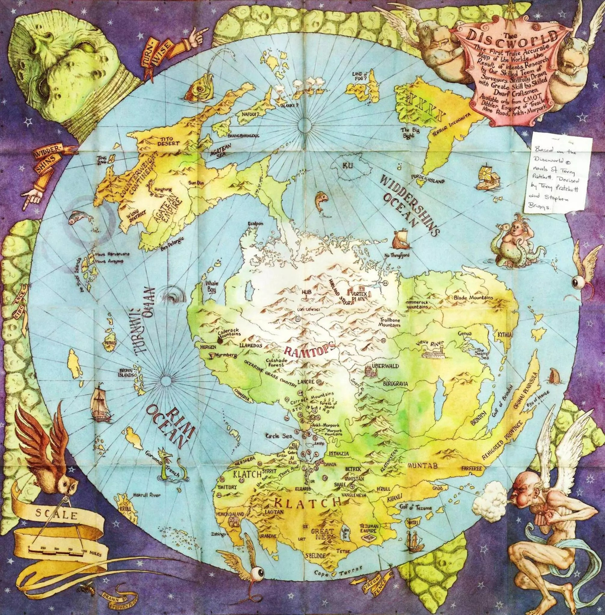 terry pratchett discworld map full