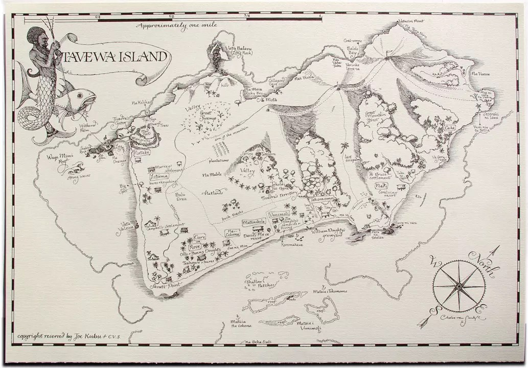 2012 CVS Ephemera Tavewa Island map