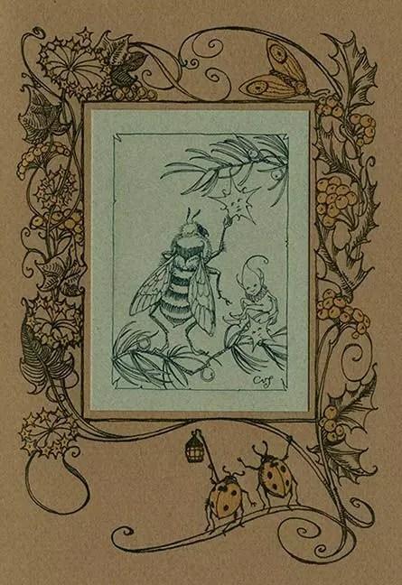 The Fairies Christmas Internal Art CVS carousel