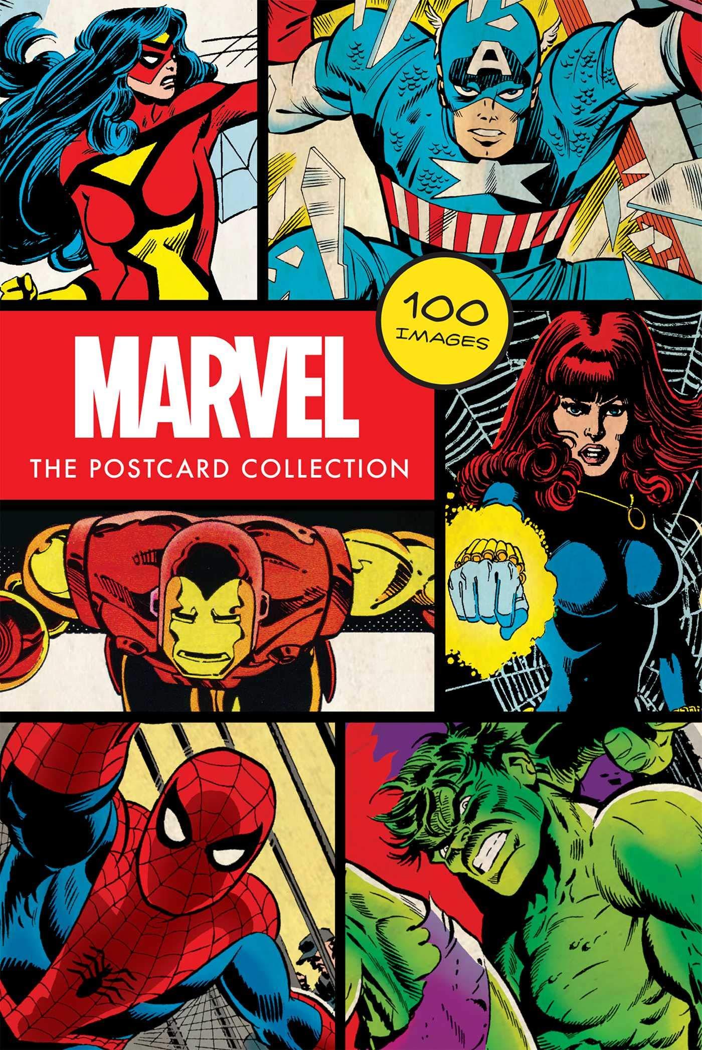 marvel comics postcards cover