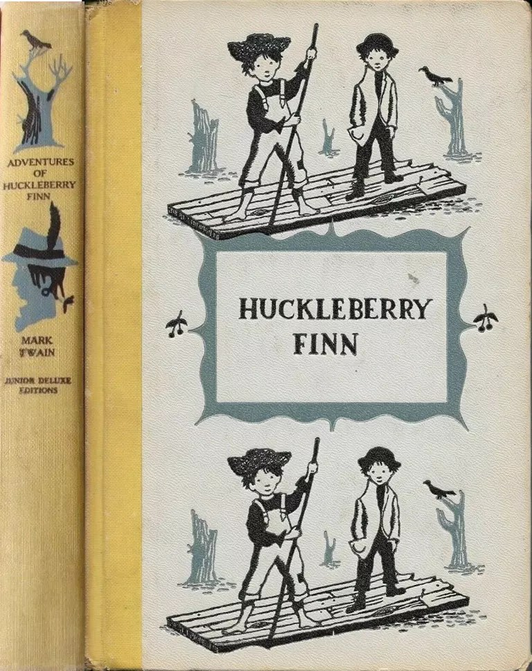 JDE Adventures of Huckleberry Finn FULL yellow cloth cover