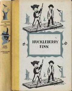 JDE Adventures of Huckleberry Finn FULL yellow cloth cover