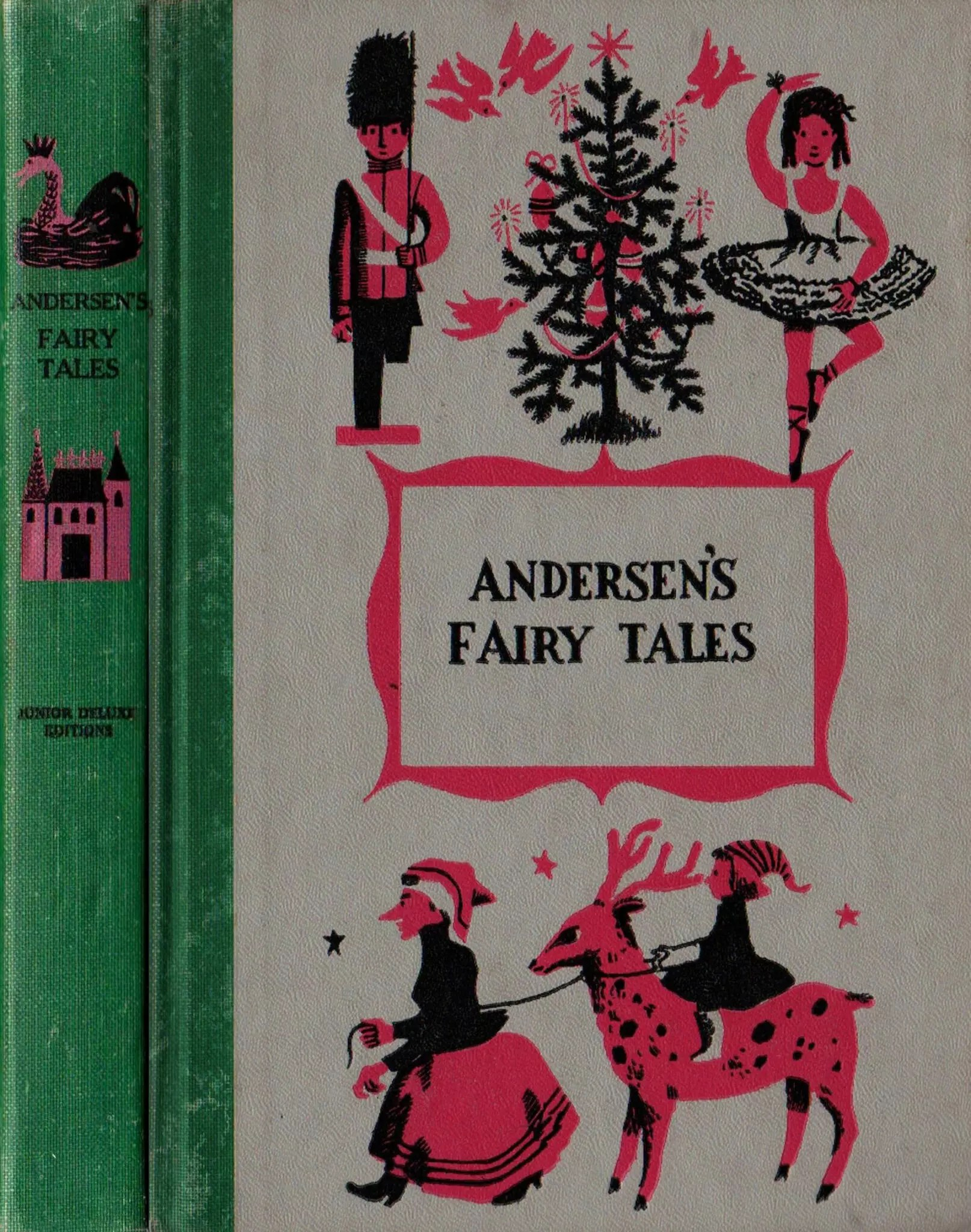JDE Andersens Fairy Tales FULL green cloth cover